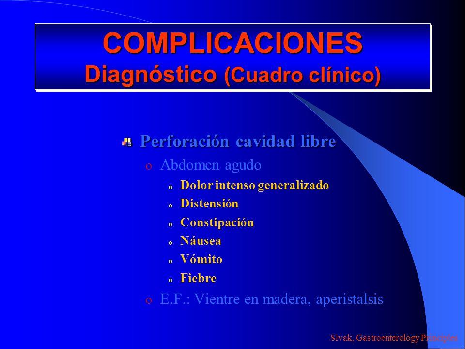 COMPLICACIONES Diagnóstico (Cuadro clínico)