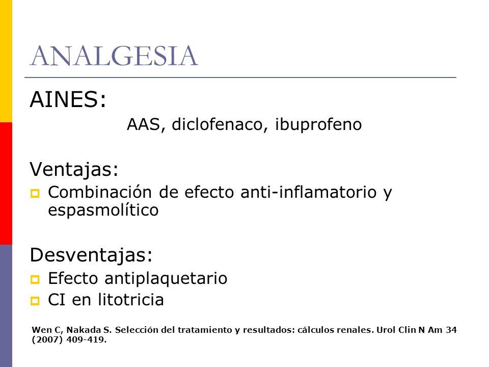 AAS, diclofenaco, ibuprofeno