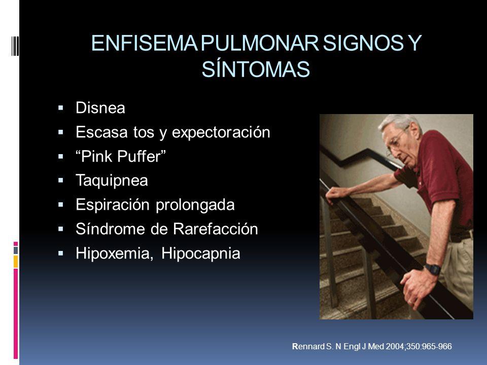 ENFISEMA PULMONAR SIGNOS Y SÍNTOMAS