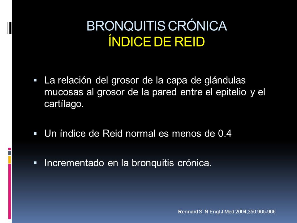 BRONQUITIS CRÓNICA ÍNDICE DE REID