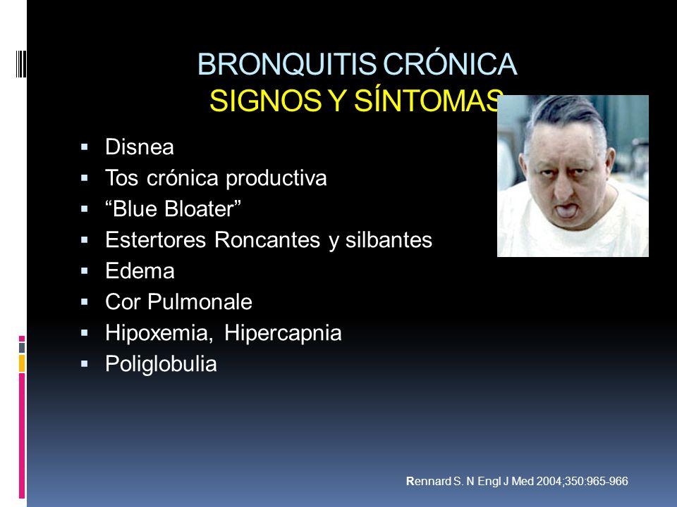 BRONQUITIS CRÓNICA SIGNOS Y SÍNTOMAS