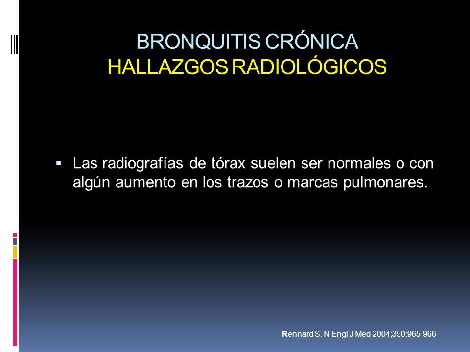 BRONQUITIS CRÓNICA HALLAZGOS RADIOLÓGICOS