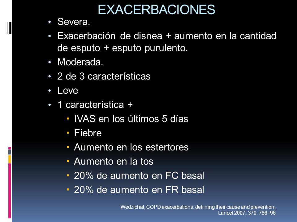 EXACERBACIONES Severa.