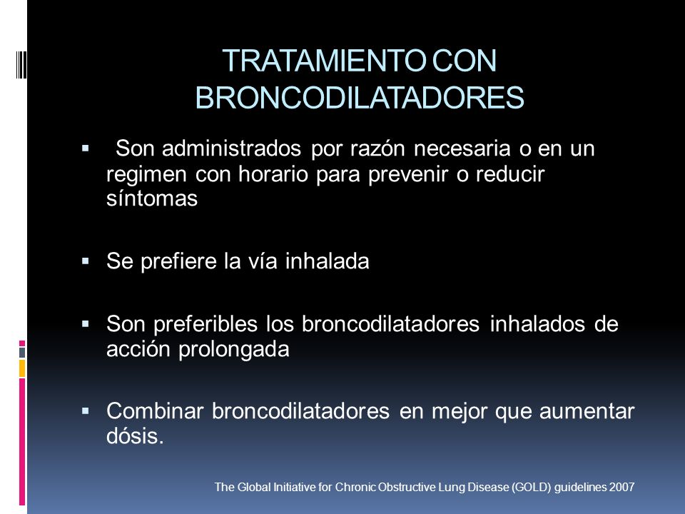 TRATAMIENTO CON BRONCODILATADORES