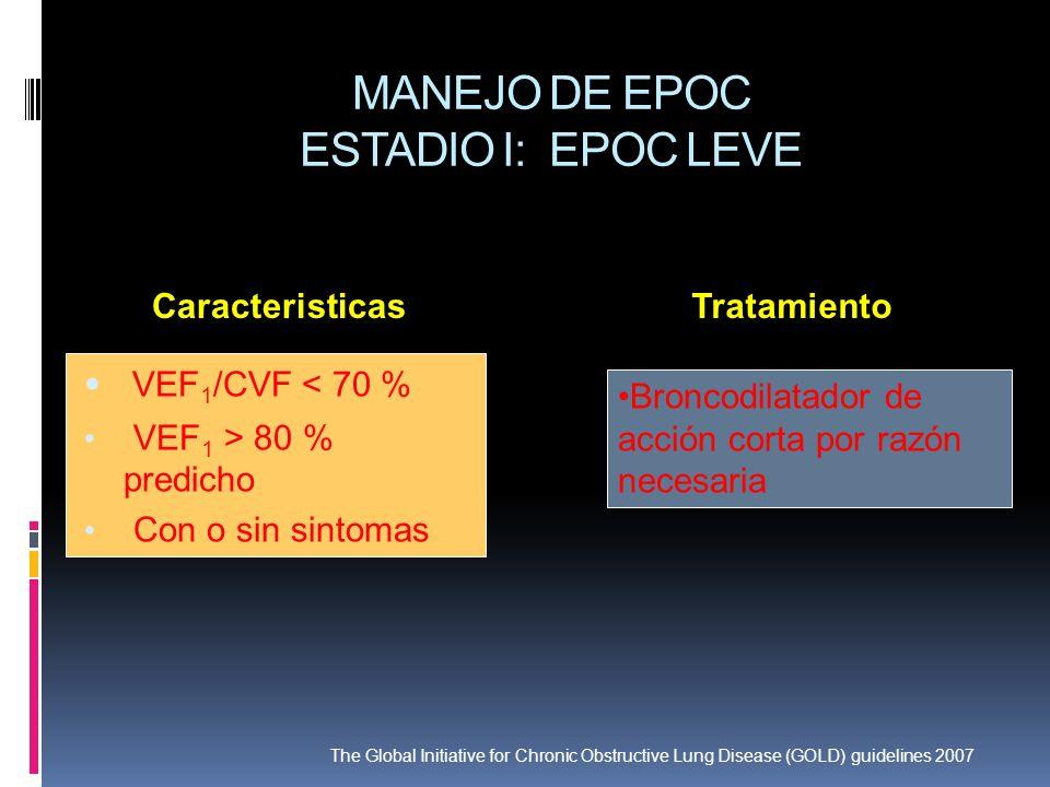 MANEJO DE EPOC ESTADIO I: EPOC LEVE