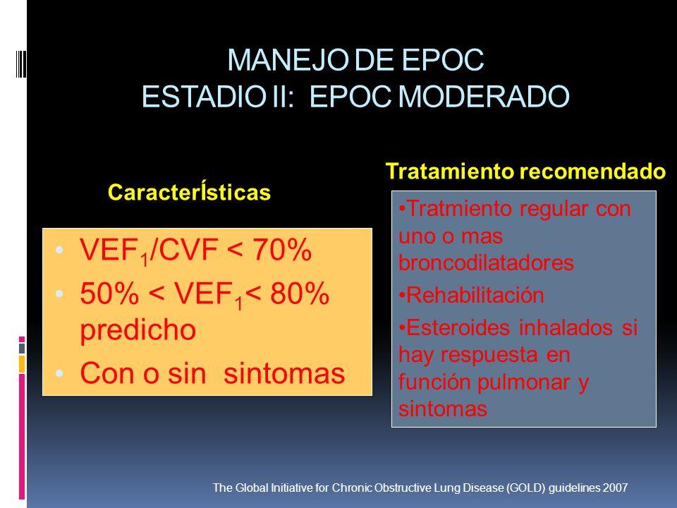 MANEJO DE EPOC ESTADIO II: EPOC MODERADO