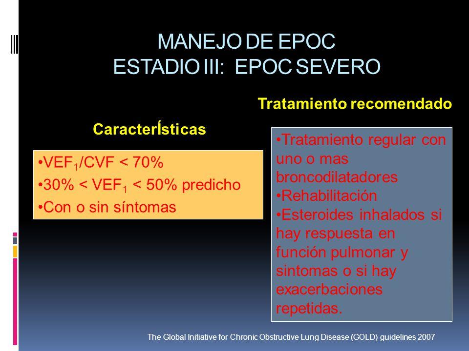 MANEJO DE EPOC ESTADIO III: EPOC SEVERO