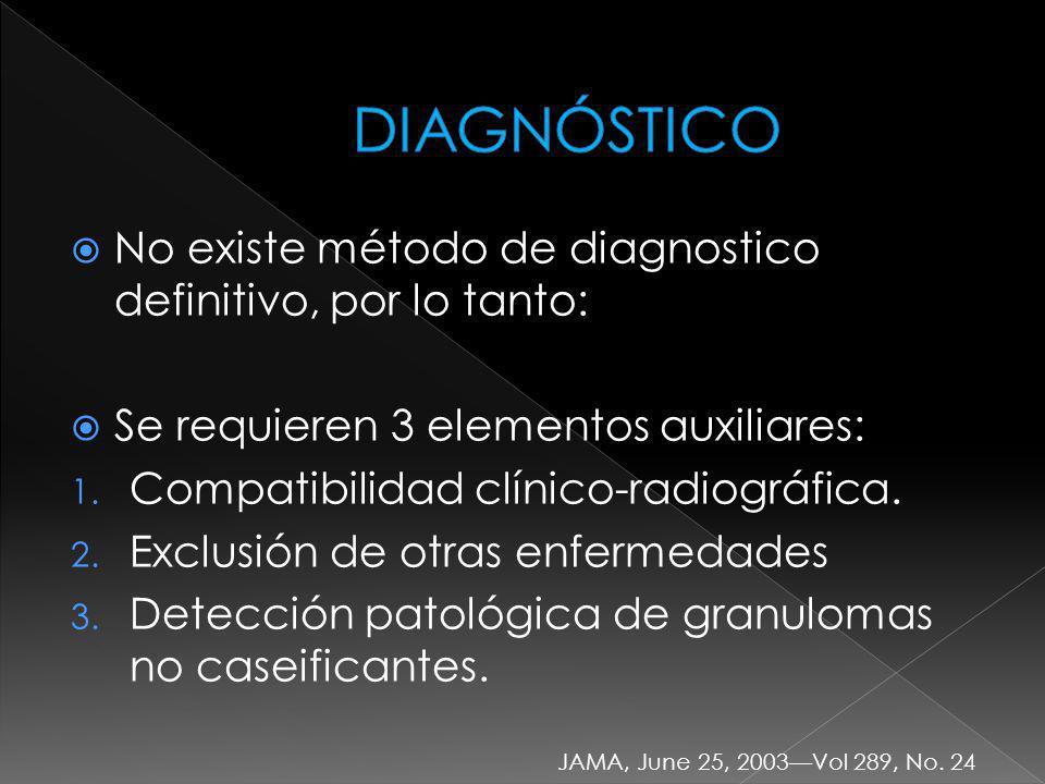 DIAGNÓSTICO No existe método de diagnostico definitivo, por lo tanto: