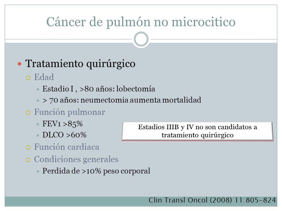 Cáncer de pulmón no microcitico