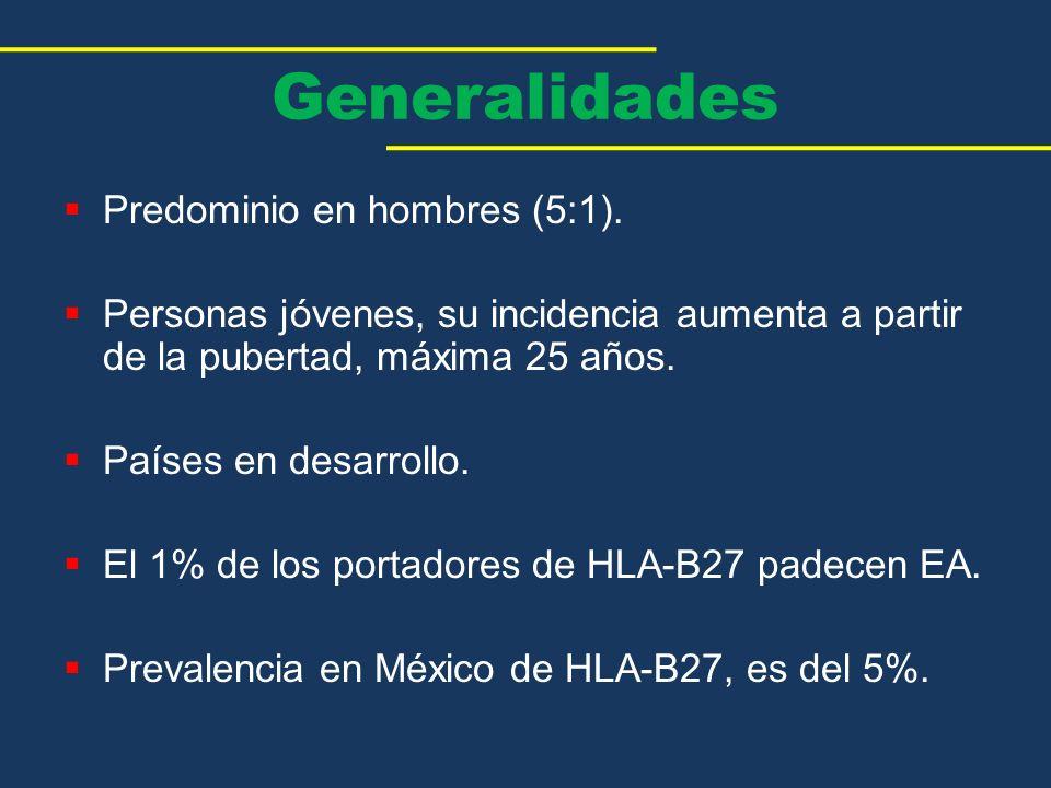 Generalidades Predominio en hombres (5:1).