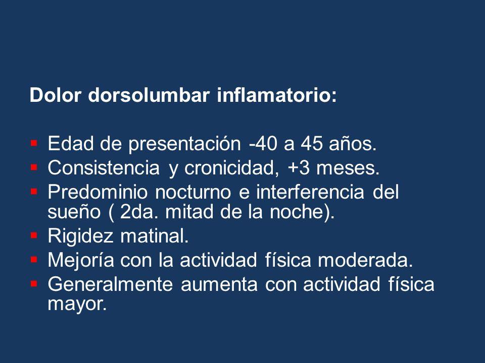 Dolor dorsolumbar inflamatorio: