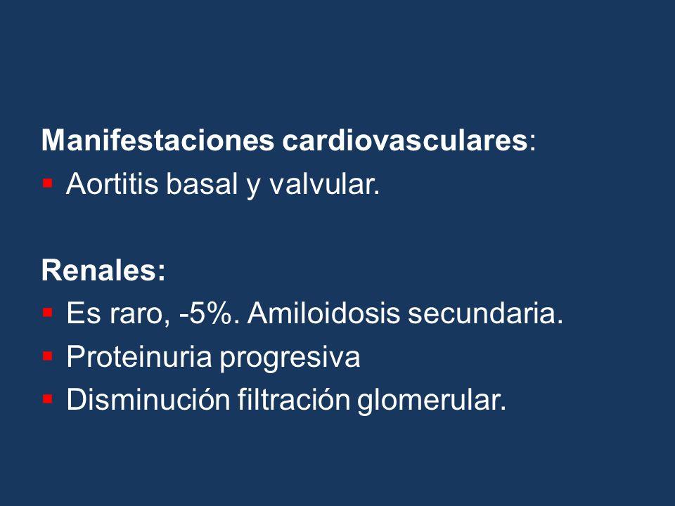 Manifestaciones cardiovasculares: