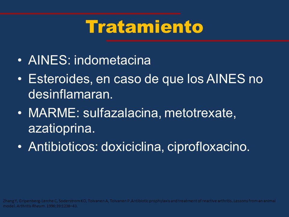 Tratamiento AINES: indometacina