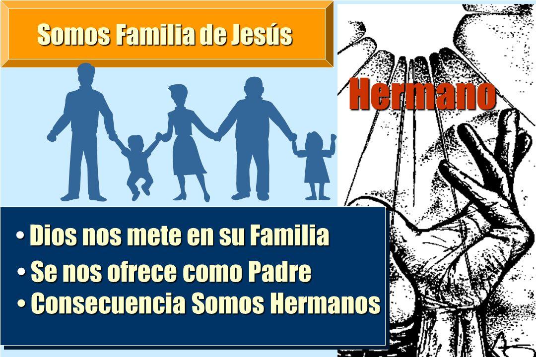 Hermano Somos Familia de Jesús Dios nos mete en su Familia