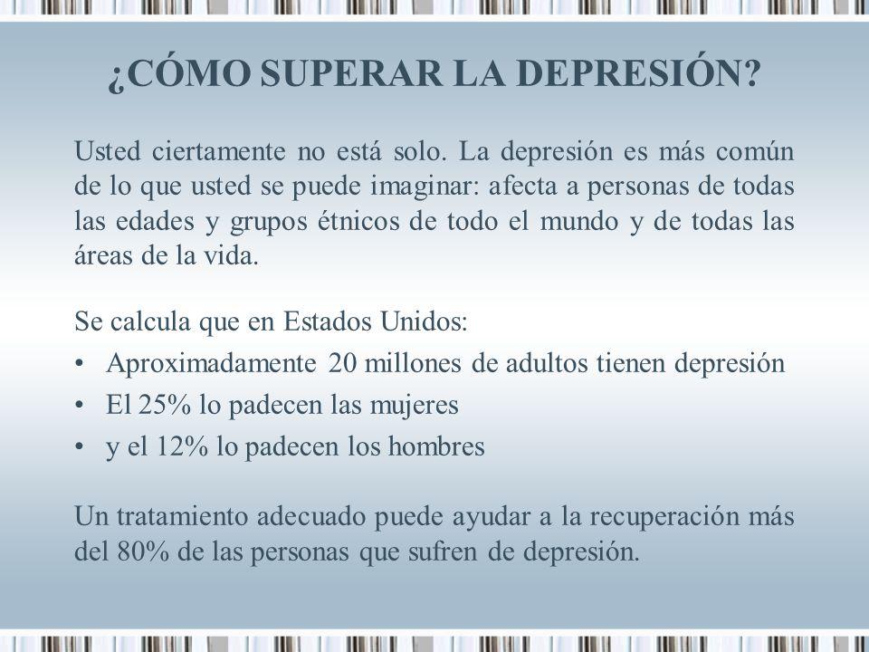 ¿CÓMO SUPERAR LA DEPRESIÓN