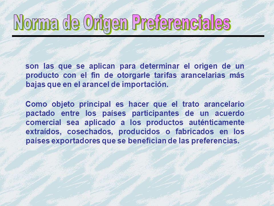 Norma de Origen Preferenciales