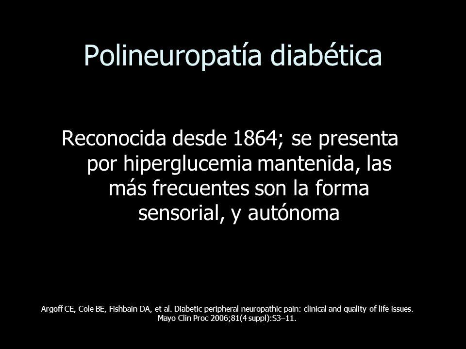 Polineuropatía diabética