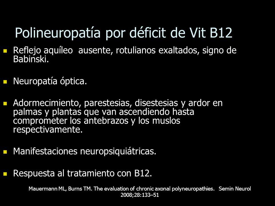 Polineuropatía por déficit de Vit B12