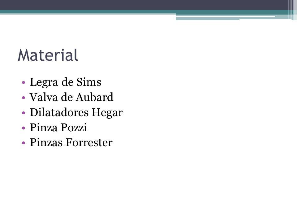 Material Legra de Sims Valva de Aubard Dilatadores Hegar Pinza Pozzi