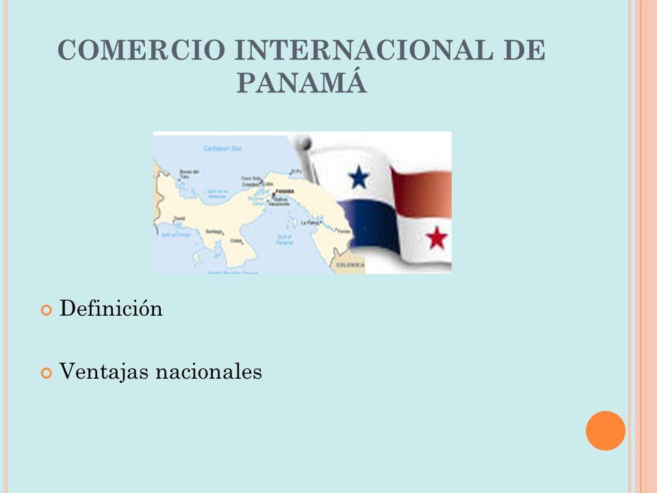 COMERCIO INTERNACIONAL DE PANAMÁ