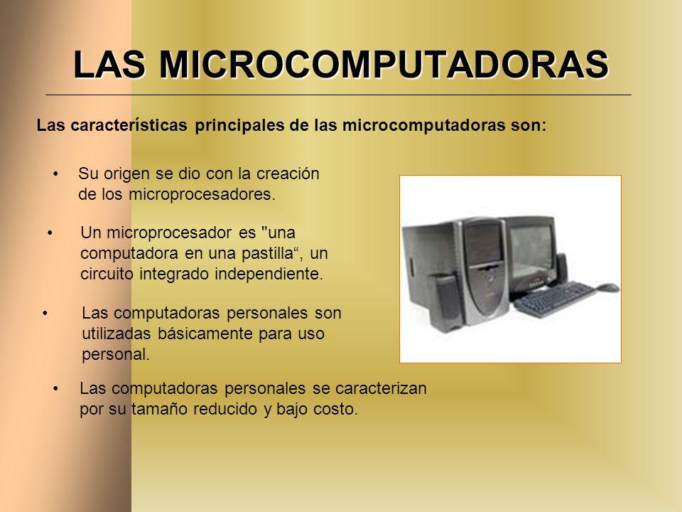 LAS MICROCOMPUTADORAS