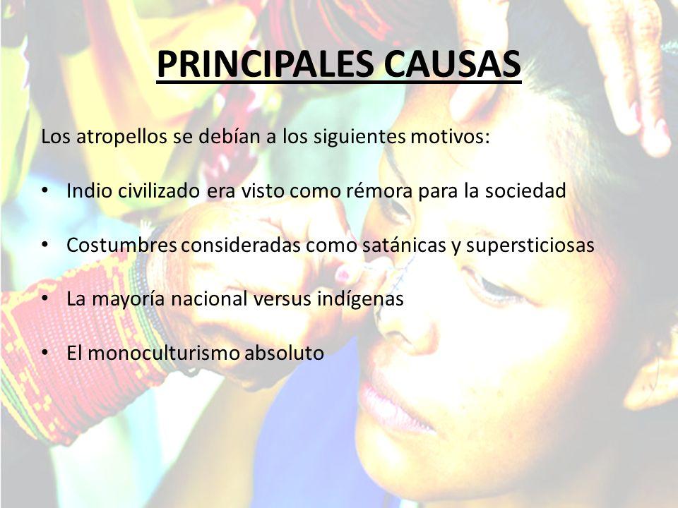 PRINCIPALES CAUSAS Los atropellos se debían a los siguientes motivos: