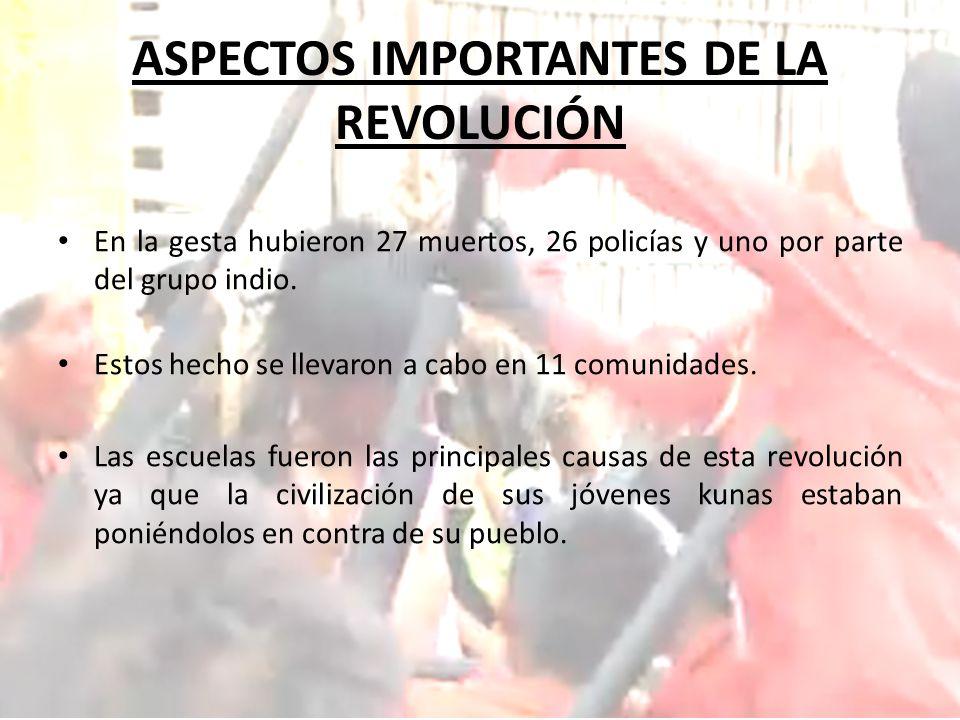 ASPECTOS IMPORTANTES DE LA REVOLUCIÓN