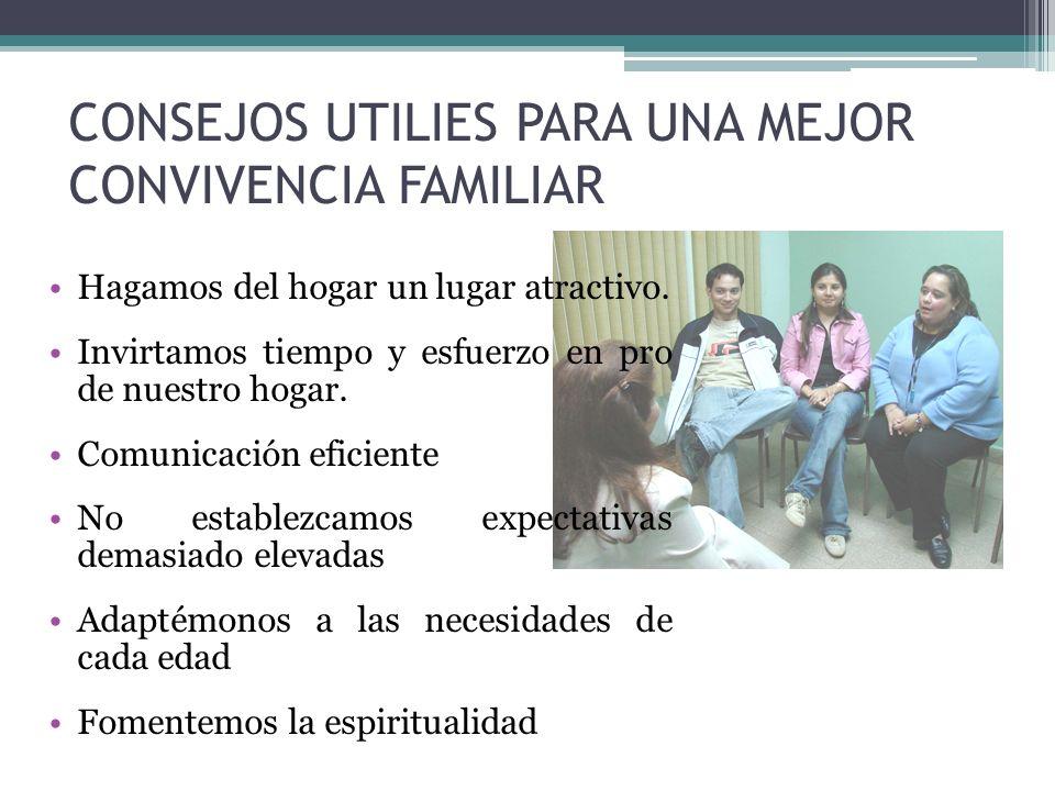 CONSEJOS UTILIES PARA UNA MEJOR CONVIVENCIA FAMILIAR