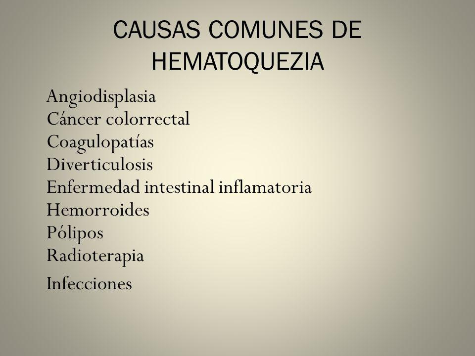 CAUSAS COMUNES DE HEMATOQUEZIA