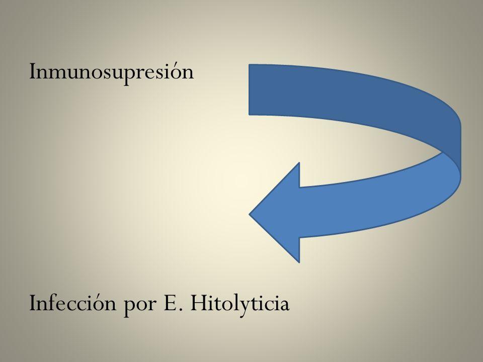 Inmunosupresión Infección por E. Hitolyticia