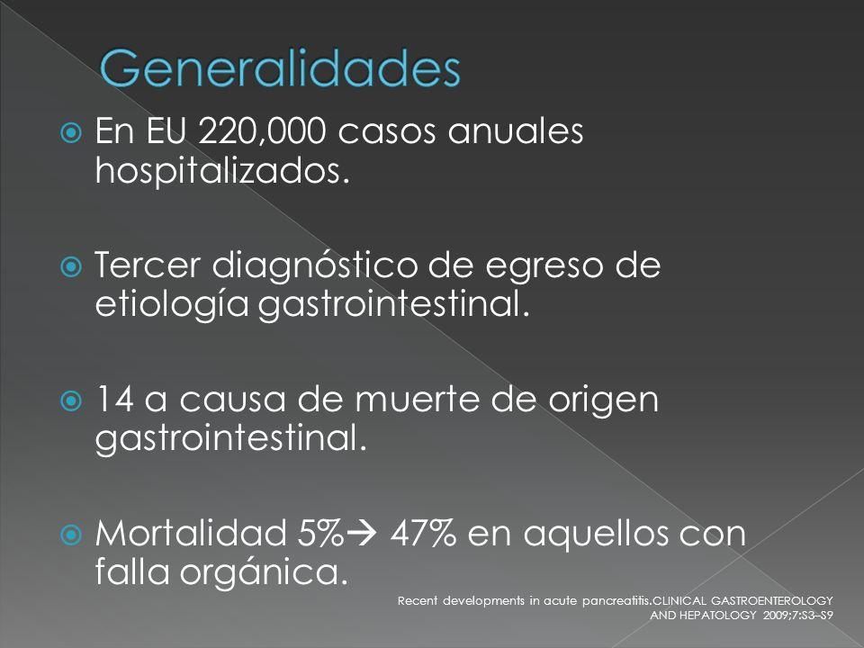 Generalidades En EU 220,000 casos anuales hospitalizados.