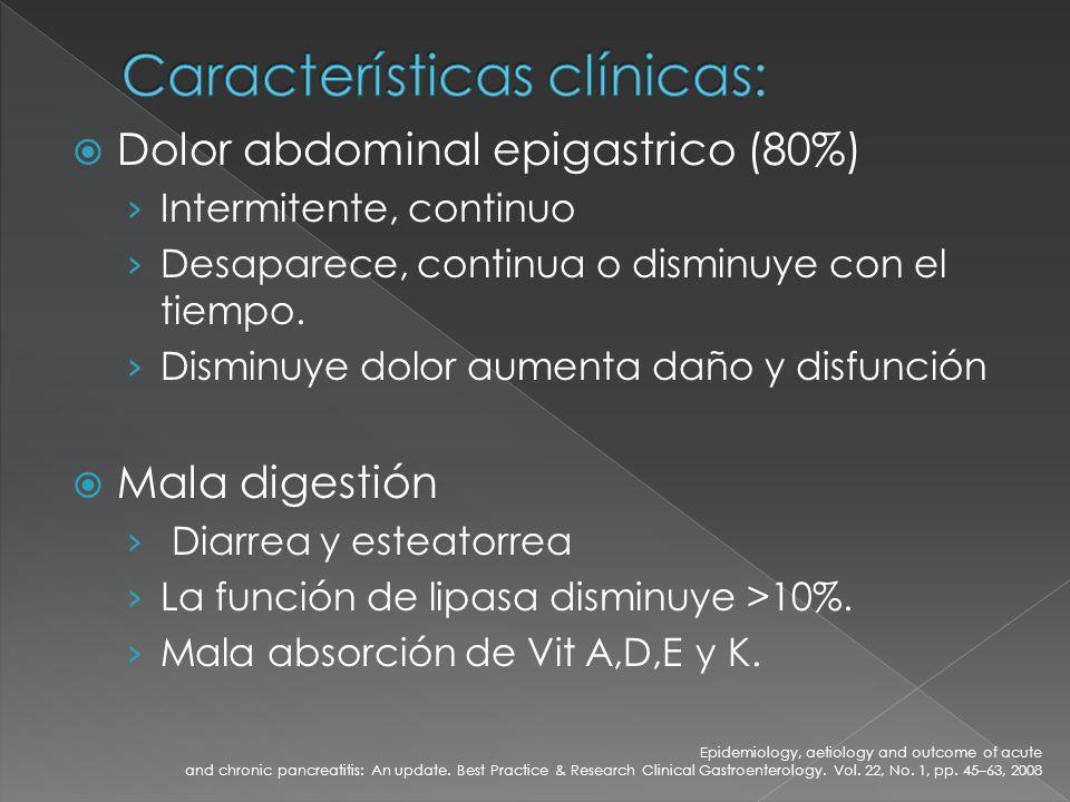 Características clínicas: