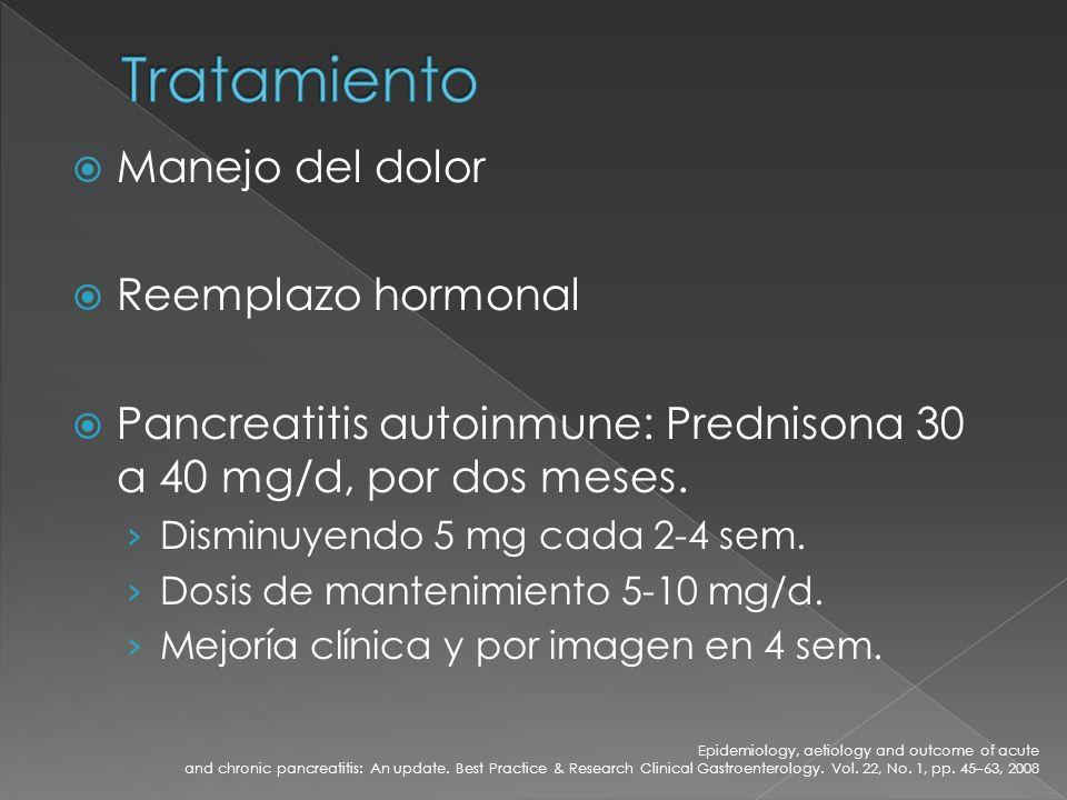 Tratamiento Manejo del dolor Reemplazo hormonal