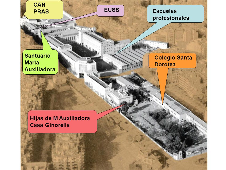 CAN PRAS. EUSS. Escuelas. profesionales. Santuario. María. Auxiliadora. Colegio Santa. Dorotea.