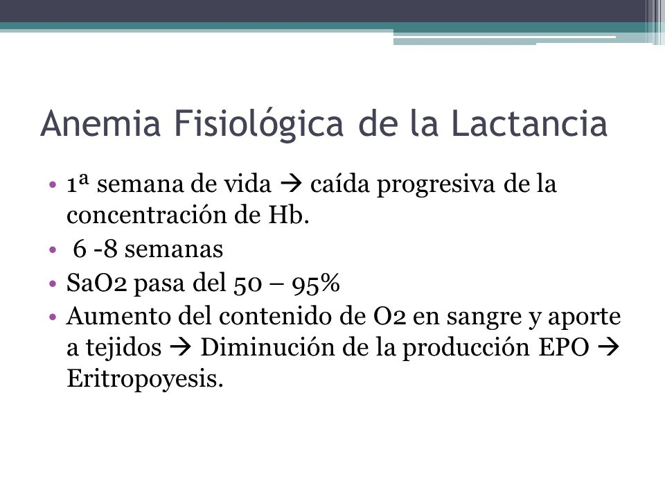 Anemia Fisiológica de la Lactancia