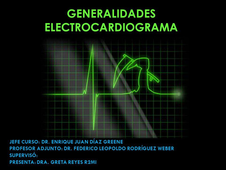 GENERALIDADES ELECTROCARDIOGRAMA