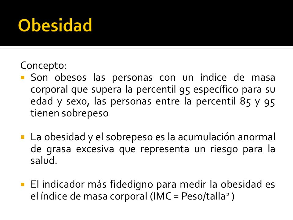 ObesidadConcepto: