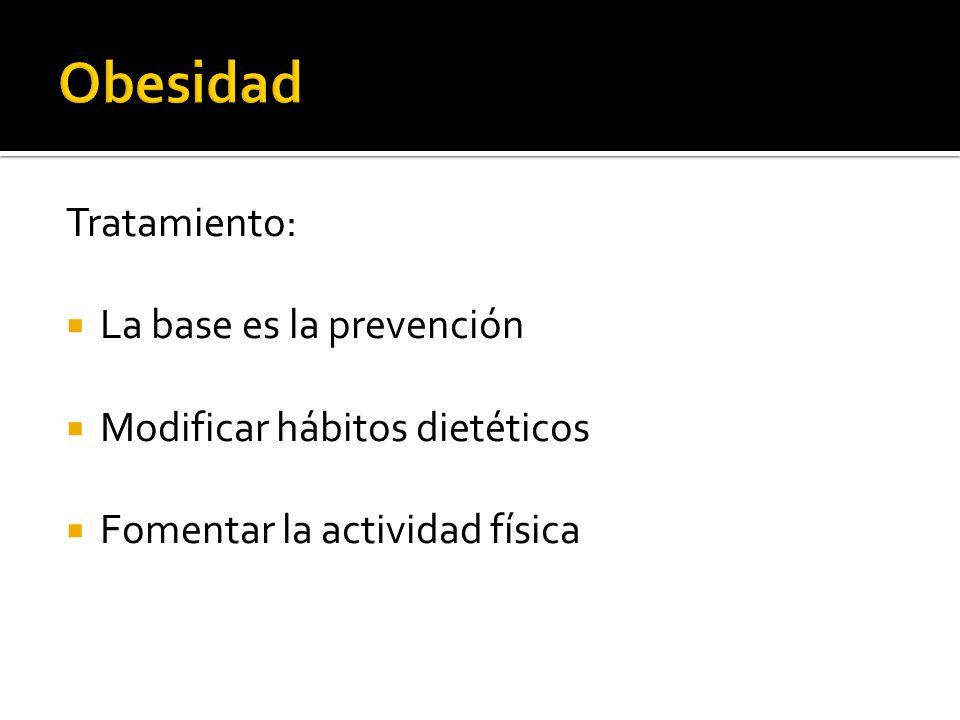 Obesidad Tratamiento: La base es la prevención
