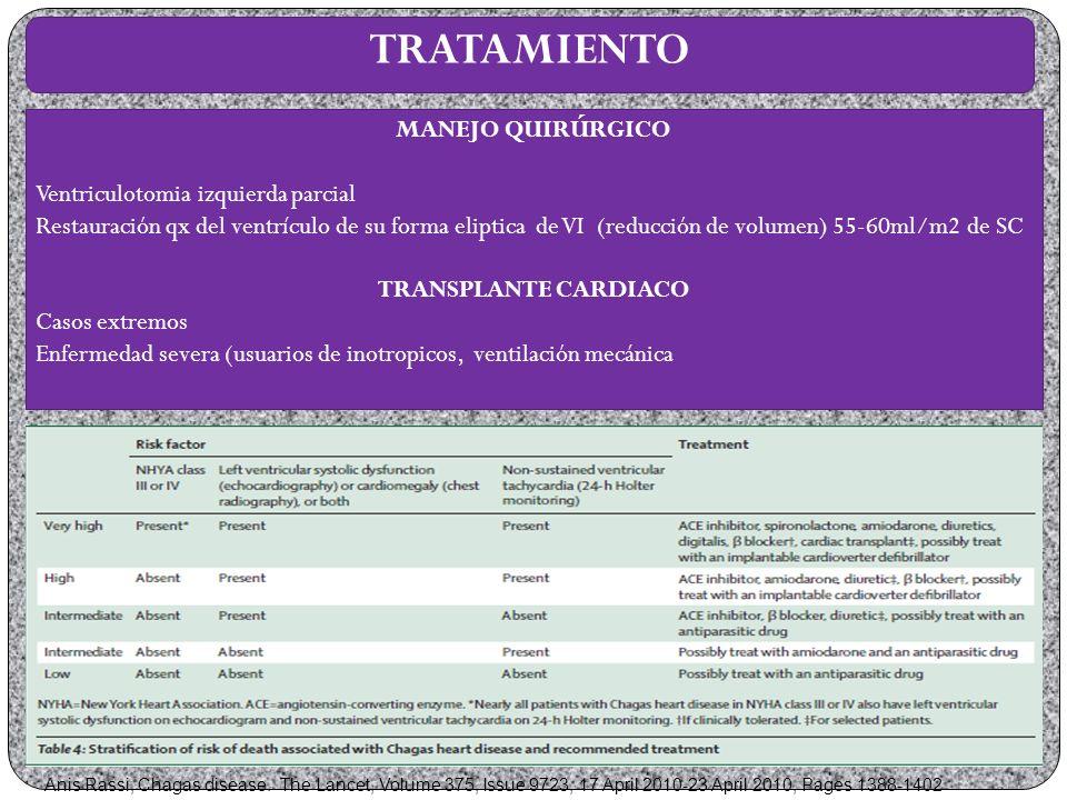 TRATAMIENTO MANEJO QUIRÚRGICO Ventriculotomia izquierda parcial