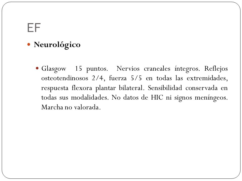 EF Neurológico.