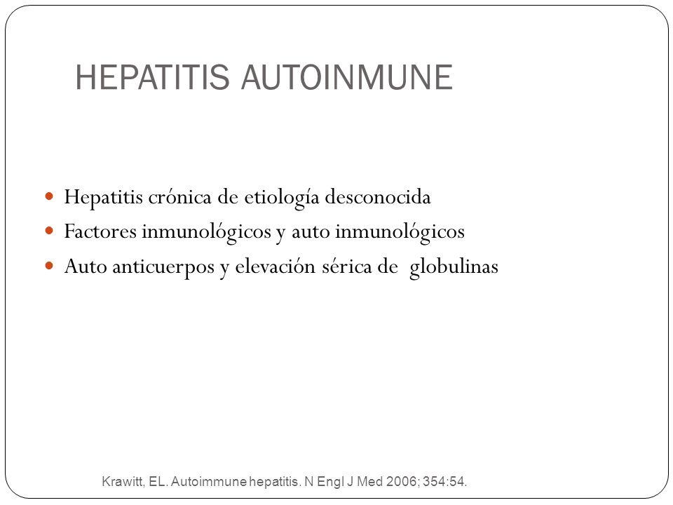 HEPATITIS AUTOINMUNE Hepatitis crónica de etiología desconocida
