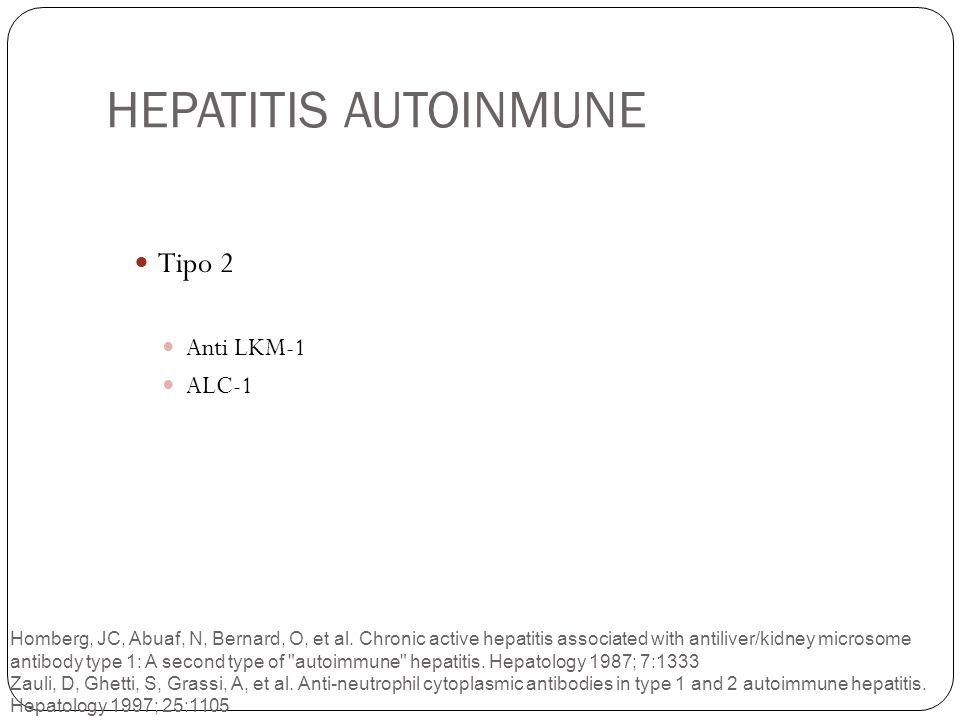 HEPATITIS AUTOINMUNE Tipo 2 Anti LKM-1 ALC-1