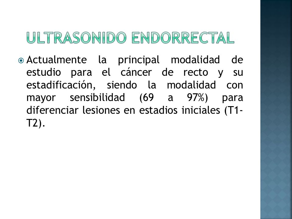 Ultrasonido endorrectal