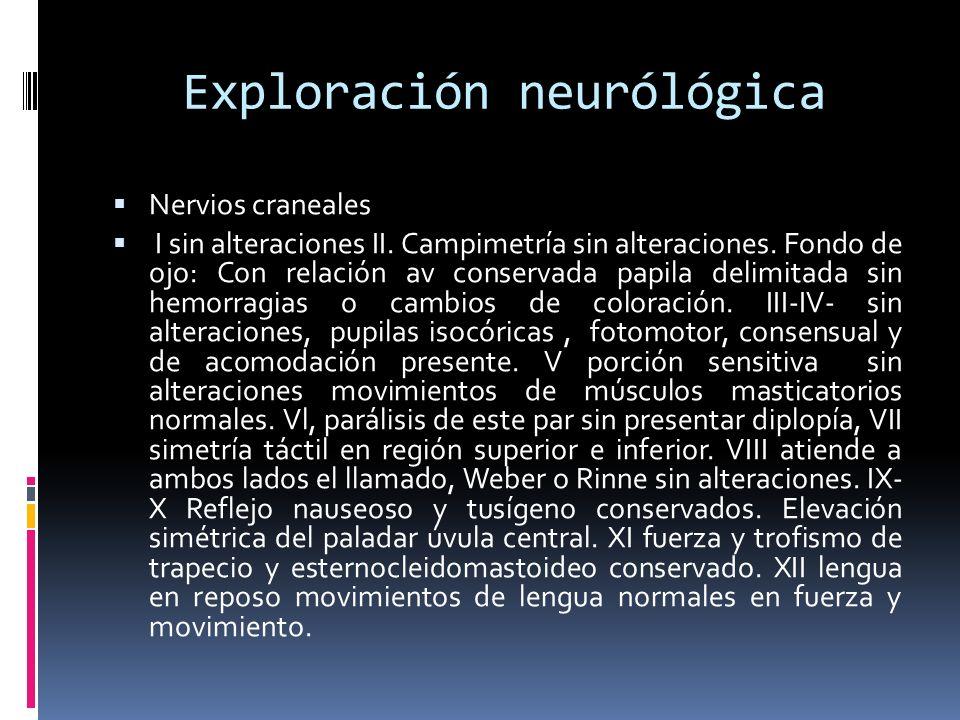 Exploración neurólógica
