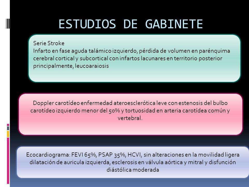 ESTUDIOS DE GABINETE . Serie Stroke