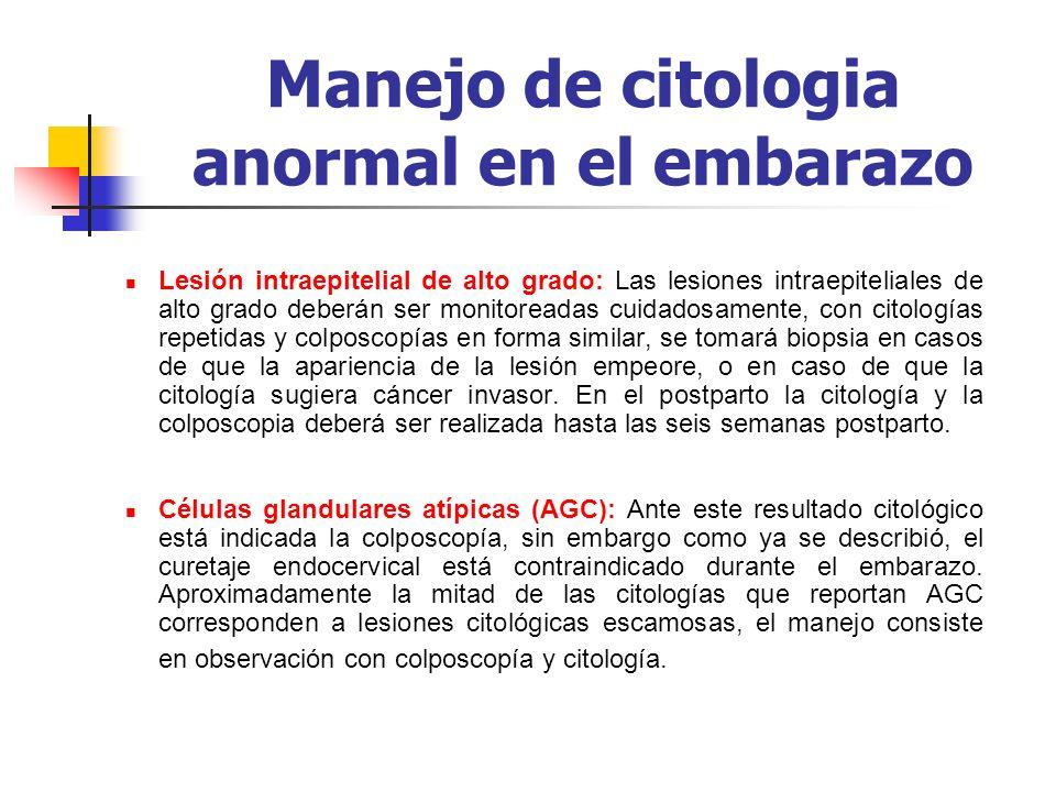 Manejo de citologia anormal en el embarazo