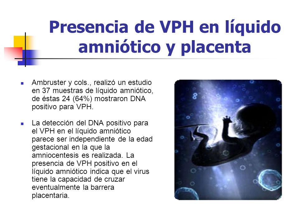 Presencia de VPH en líquido amniótico y placenta