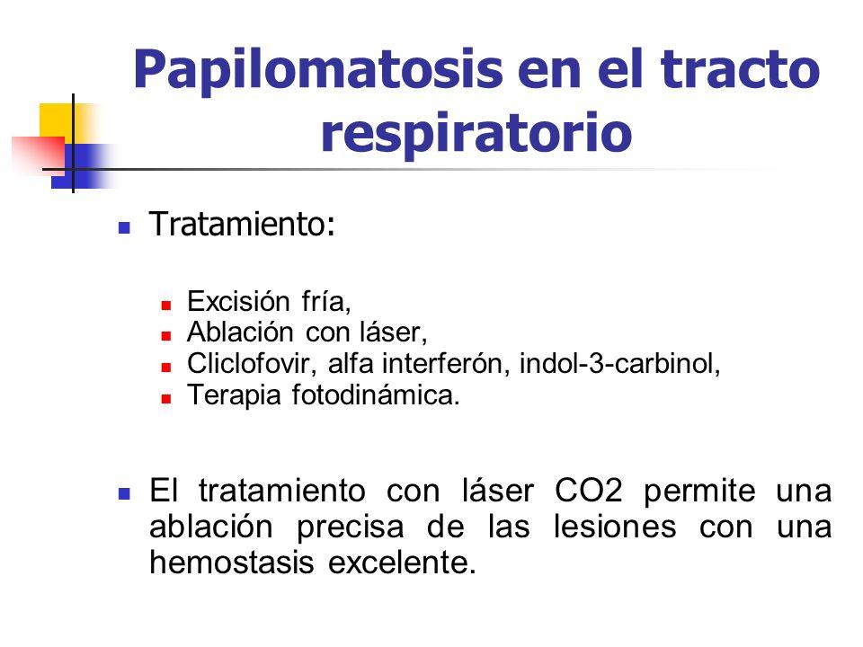 Papilomatosis en el tracto respiratorio