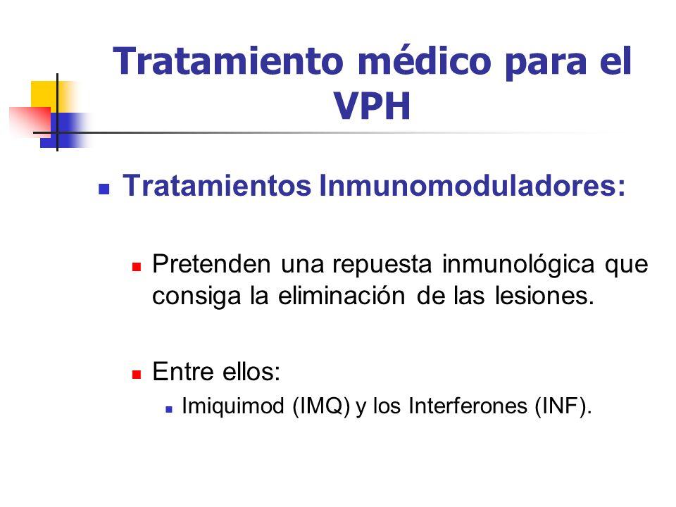 Tratamiento médico para el VPH