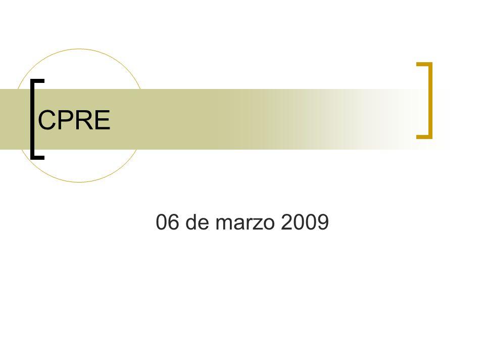 CPRE 06 de marzo 2009